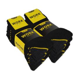 Work Werk Sokken 5-pack Zwart/Antraciet