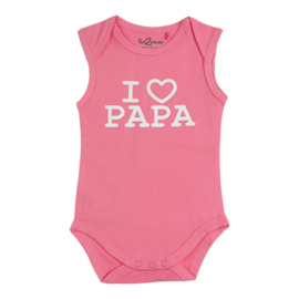 Fun2wear Romper I Love Papa Roze