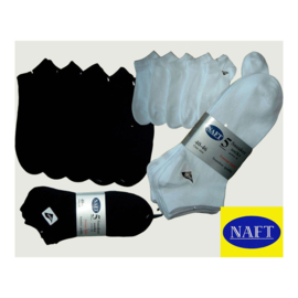 Naft Sneaker Sokken 5-pack Wit