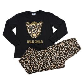 Fun2wear meisjes pyjama WILD CHILD Zwart
