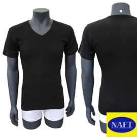 Naft Heren T-shirt V-hals 6-pack Zwart/Wit
