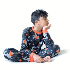 Fun2wear Pyjama Camo Oranje