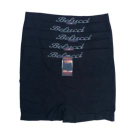 Belucci Heren Microfiber Boxershort 5-Pack Zwart