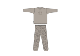 Frogs and Dogs Baby Pyjama Taupe