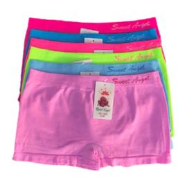 Sweet Angel Microfiber Meisjes Boxershorts XG-1080 6-Pak kleur