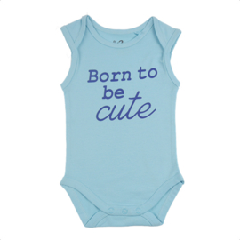 Fun2wear Romper Born To Be Cute Blauw