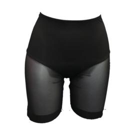 J&C Underwear Dames Boxershort string met gaas 8130 Zwart