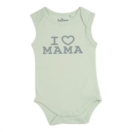 Fun2wear Romper I love Mama Groen
