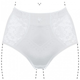 J&C Underwear Dames Tailleslip Licht Corrigerend 201 Wit