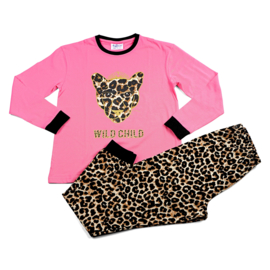 Fun2wear meisjes pyjama WILD CHILD Roze