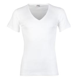 Beeren Heren T-shirt Diepe V-hals M3000 Wit
