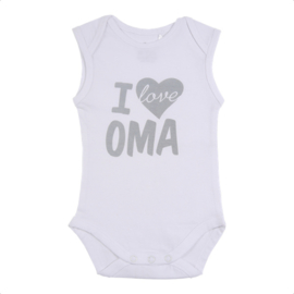 Fun2wear Romper I love Oma Wit