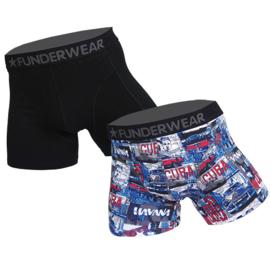 Funderwear Heren Boxershort 2-pack Havana