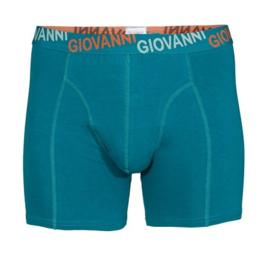 Giovanni Heren Boxershort Strak Petrol/Oranje