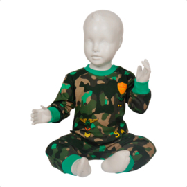 Fun2wear Pyjama Camo Groen