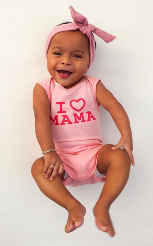 Fun2wear Romper I love Mama Roze