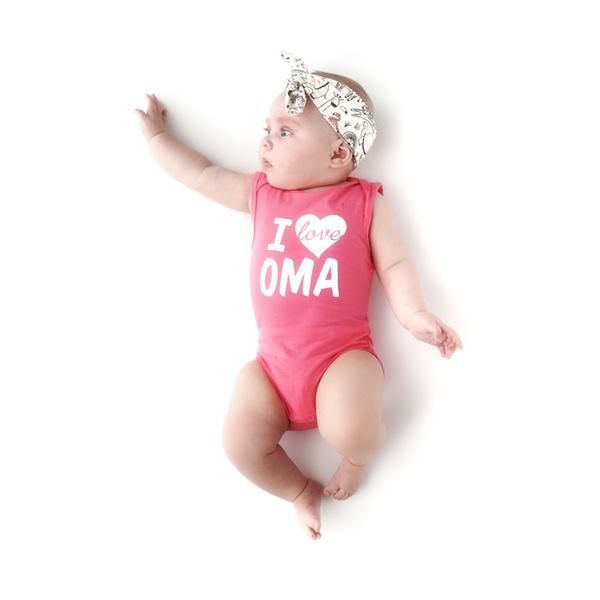Fun2wear Romper I love Oma Roze