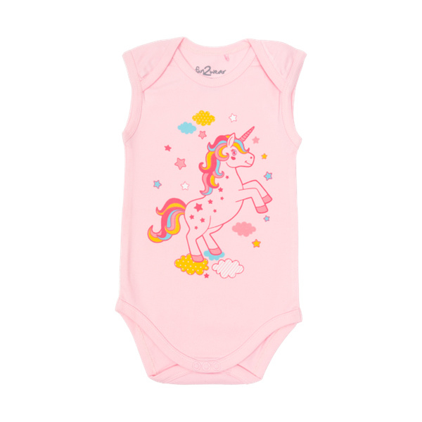 Fun2wear Romper Unicorn Roze