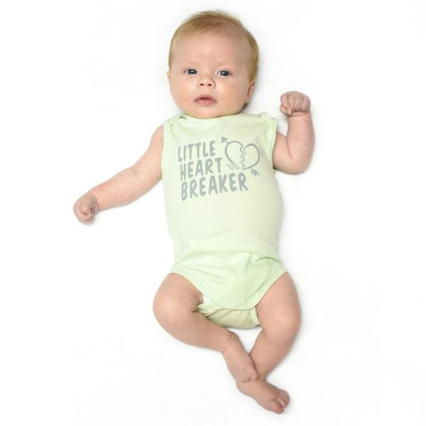 Fun2wear Romper Little Heartbreaker Groen