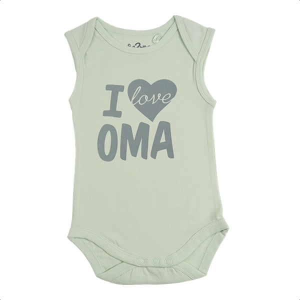 Fun2wear Romper I love Oma Groen