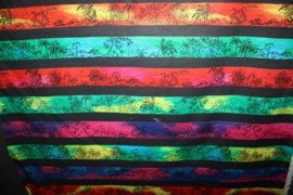 gekleurde stroken palmmotief