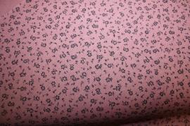 Oud roze met klein zwart  bloemmetje