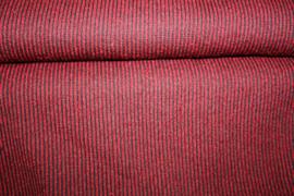 Rood/ zwart gestreept