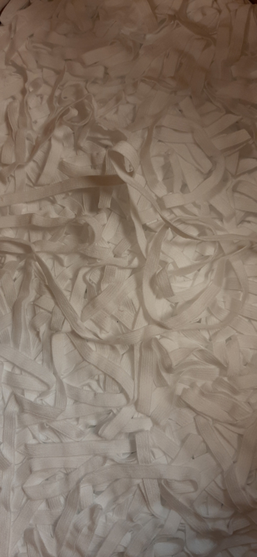 50M witte elastiek 5mm breedte
