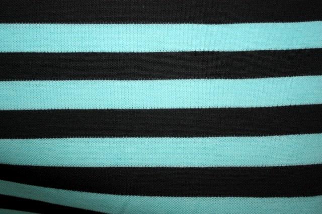 zwart/ blauw gestreept