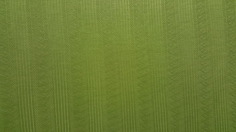 Groene tricot gestreept met motief