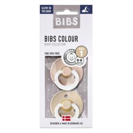 Bibs fopspeen T1 0-6mnd GID Vanilla-Blush