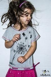 Fleurige rok met t-shirt Plumas de Tacun (Akukuna) van biologisch katoen