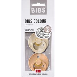 Bibs Blister fopspeen 2st T1 (0-6 mnd) Vanilla-Peach