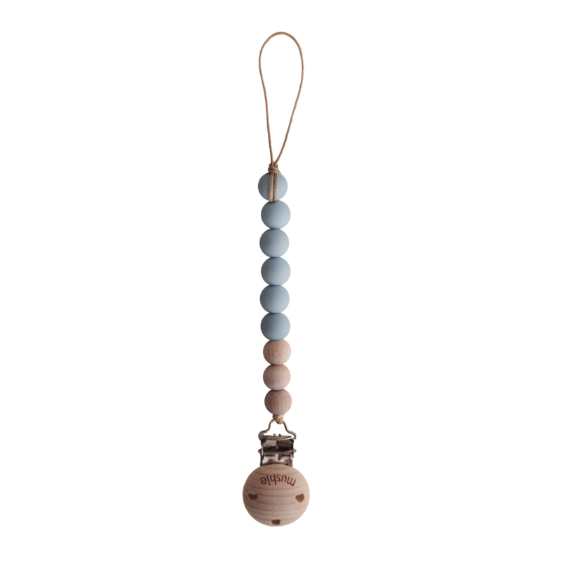 Mushie fopspeenketting Cloud/Wood