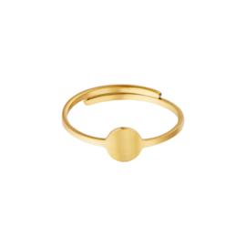 Ring- Circle 'goud' verstelbaar