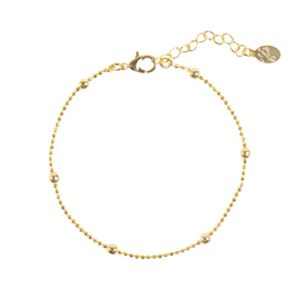 Armband- Sweet Little Dots 'goud'