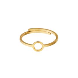 Ring- Open Circle 'goud' verstelbaar