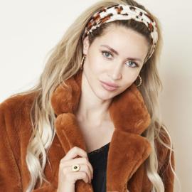 Haarband- Dusty Leopard