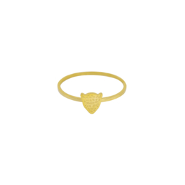 Ring- Tiger 'goud' maat 16