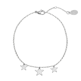 Armband- Triple Stars 'zilver'
