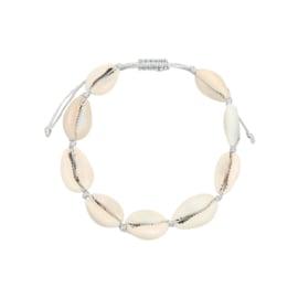 Armband- Schelpjes 'wit'
