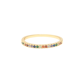 Ring- Rainbow 'goud' maat 16