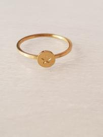 Ring- Sterretje 'goud' maat 16,5