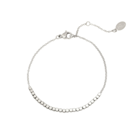 Armband- Line of Dots 'zilver'