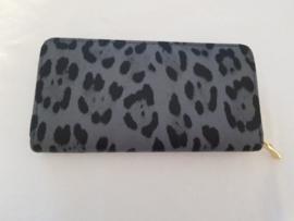 Portemonnee- Leopard 'grijs'