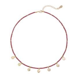 Ketting- Coins 'rood'