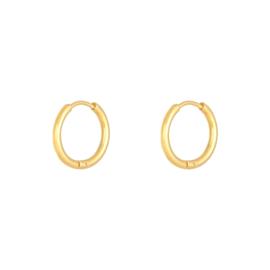 Oorbellen- Little Hoops- 1,6 cm 'goud'