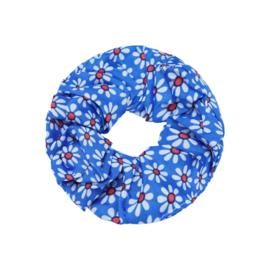Scrunchie- Flora Colors 'blauw'