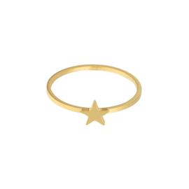 Ring- Ster 'goud' maat 16