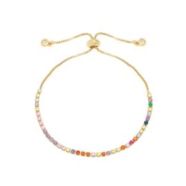 Armband- Rainbow 'goud'